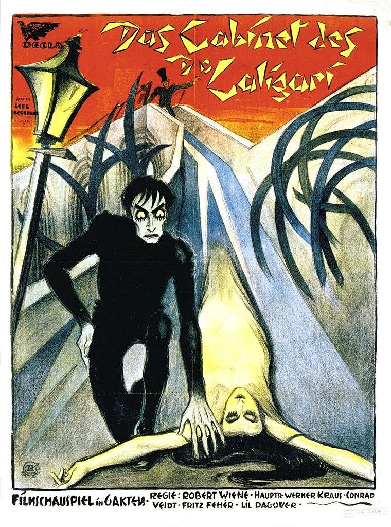Cartel de la película El gabinete del doctor Caligari.