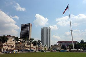 1990 in Malaysia - Dataran Merdeka or Merdeka Square in central Kuala Lumpur