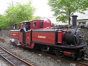 Robert Francis Fairlie - David Lloyd George built new in 1991, one of several double Fairlie locomotives operated by the Ffestiniog Railway today.