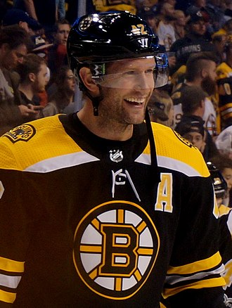 David Backes - Backes with the Boston Bruins in 2017