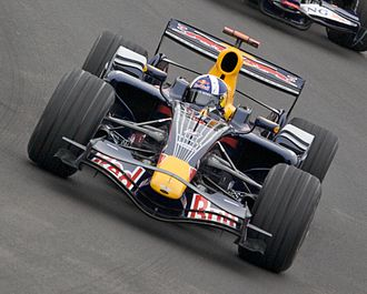 Red Bull Racing - David Coulthard driving for RBR at the 2008 Canadian Grand Prix.