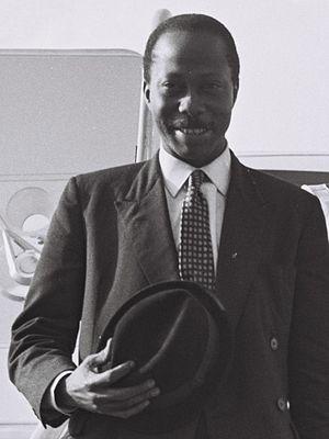 David Lansana - David Lansana arriving for a visit in Israel, April 1965