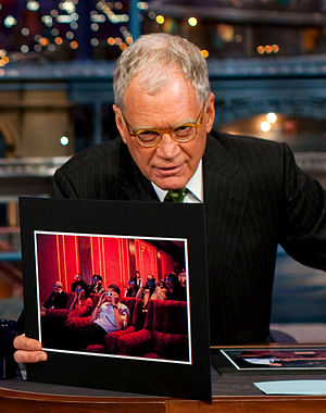David Letterman hosting President Barack Obama...