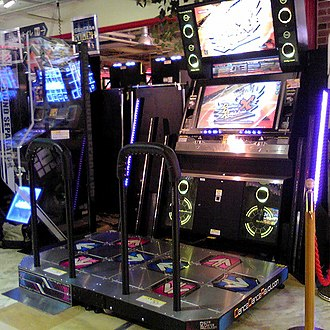 "Dance Dance Revolution X - The new ""dedicated"" cabinet."