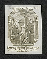 The first and second abbots of Affligem: Fulgentius and Franco