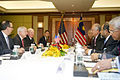 Defense.gov News Photo 110603-D-XH843-005 - Secretary of Defense Robert M. Gates meets with Malaysian Prime Minister Mohamed Najib at the Shangri-La Hotel in Singapore during the 10th.jpg