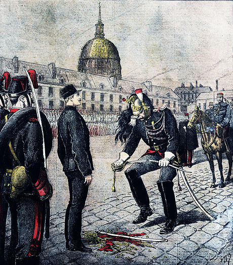 5 January 1895: The treason conviction of Captain Alfred Dreyfus. Degradation alfred dreyfus.jpg