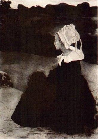 Henri Delavallée - Image: Delavallée Bretonne en noir