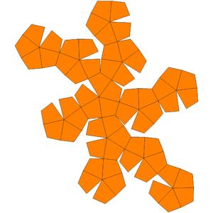Deltoidal hexecontahedron - Deltoidal hexecontahedron net