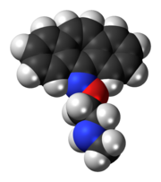 Space-filling model of the demexiptiline molecule