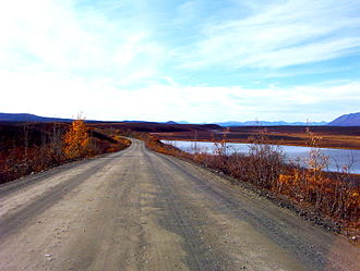Esker - Portions of the Denali Highway in Alaska are built on eskers