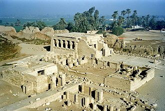 Dendera - General view of the temple compound.