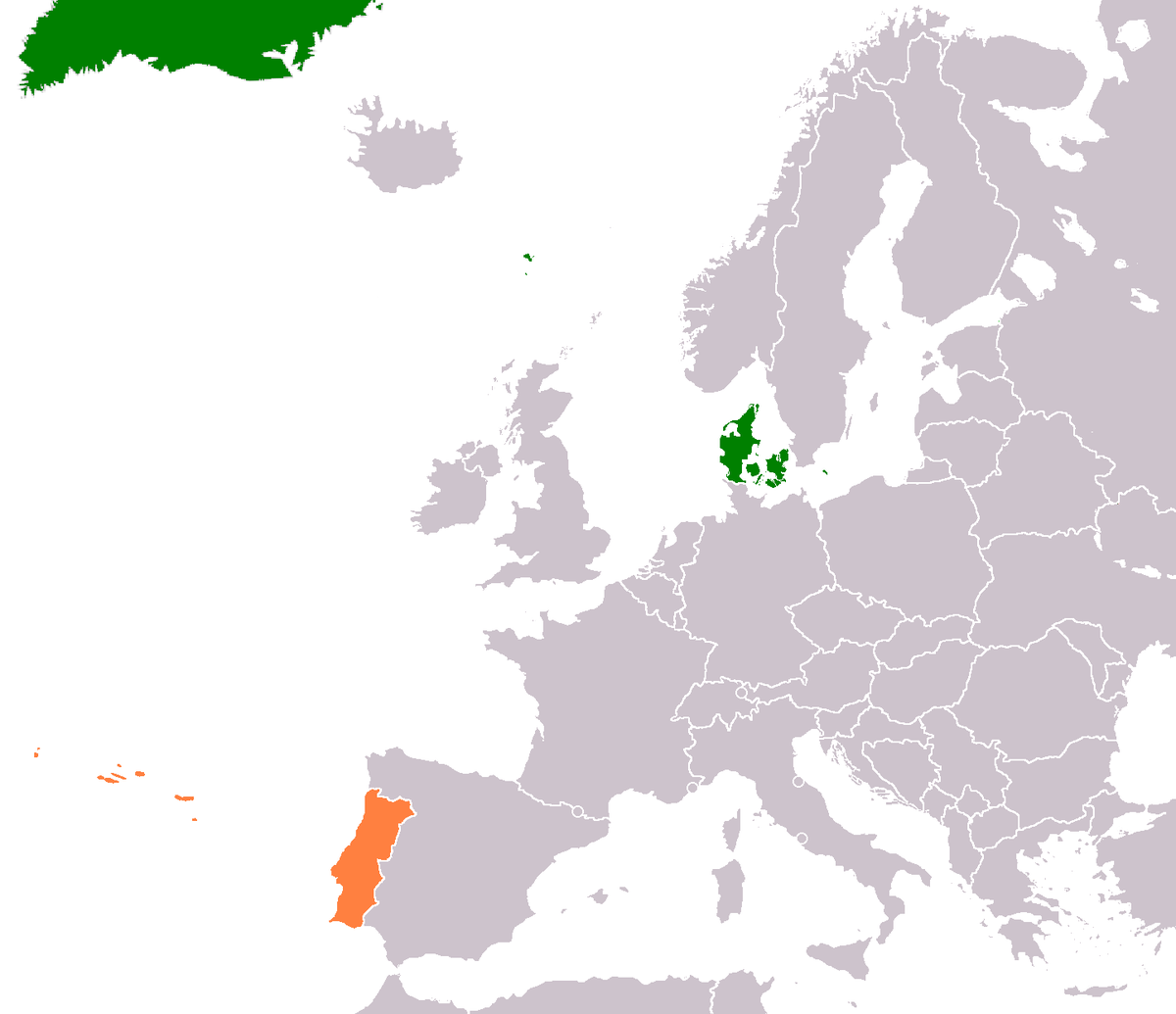 DenmarkPortugal Relations Wikipedia - Portugal map in 1200