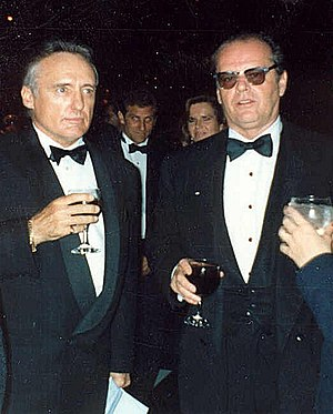 Dennis Hopper and Jack Nicholson at the 62nd A...