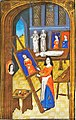 Des cléres et nobles femmes, Spencer Collection MS. 33, f. 37v, French, c. 1470 - Artist in her Atelier.jpg