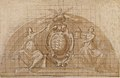 Design for a Lunette Decoration- Coat of Arms Flanked by Seated Allegorical Figures (recto and verso) MET 1975.131.20 RECTO.jpg