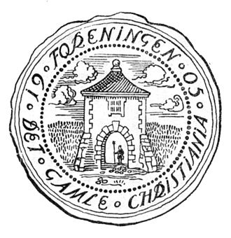 Oslo City Museum - Det gamle Christiania  seal  drawn by Fritz Holland