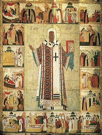 Alexius, Metropolitan of Kiev - Icon of St. Alexis with scenes from his life by Dionisius