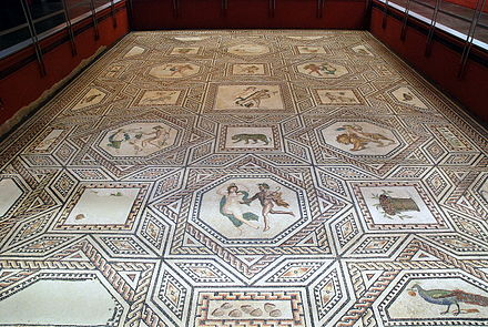 Roman excavation in Cologne: Dionysus Mosaic on display at Römisch-Germanisches Museum