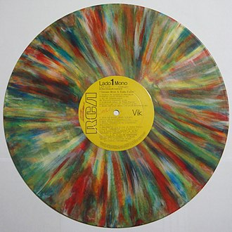 LP record - Image: Disco de vinilo A todo color