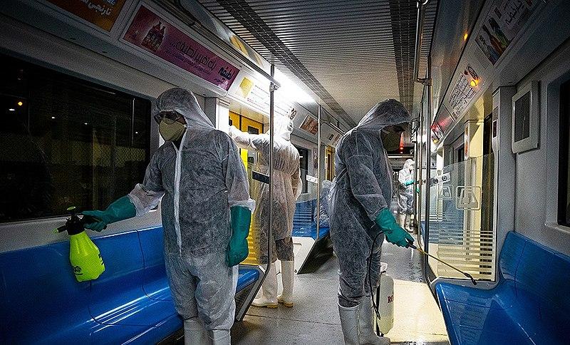 File:Disinfection of Tehran subway wagons against coronavirus 2020-02-26 09.jpg