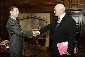 Igor Smirnov - Smirnov with President of Russia Dmitry Medvedev in Barvikha on 18 February 2009.