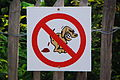 Dogs defecating prohibited - Clervaux 20140908.JPG