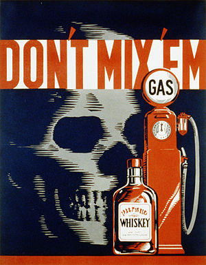 Drunk driving in the United States - 1937 WPA drunk driving poster