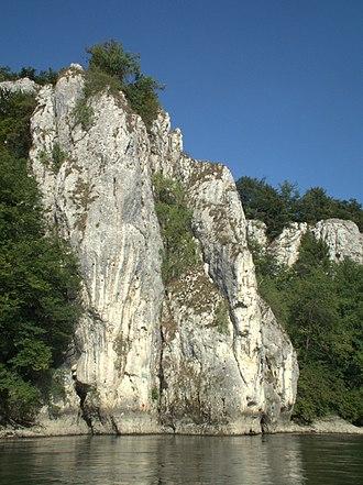 Danube Gorge (Weltenburg) - Image: Donaudurchbruch Weltenburg August 2012 012