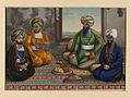 Dost Mohammad Khan sitting with three sons.jpg