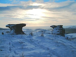 English: Doubler Stones in Winter