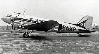 Air France - Air France Douglas DC-3 at Manchester Airport in 1952