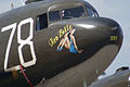 Douglas C-47A Skytrain Tico Belle Taxi In noseart TICO 13March2010 (14619504793).jpg