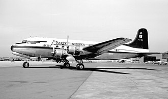 Korean Air - A Korean National Airlines Douglas DC-4 at Oakland in 1953