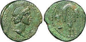 Tiberius Julius Mithridates - Image: Douze nummia à l'effigie de Mithridate II du Bosphore
