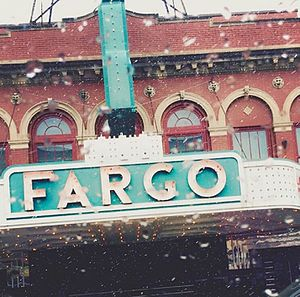 North Dakota State University - A colorful sign from an earlier era still brightens downtown Fargo