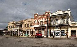 Historic district of downtown Goliad, Texas