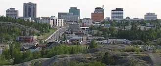Yellowknife - Skyline of downtown Yellowknife