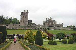 Drummond Castle and gardens.