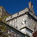 Drummond Castle - view of keep and garden sculpture.jpg