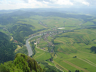 Dunajec - Dunajec viewed from Trzy Korony