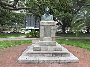 Angela Gregory - Duncan Plaza, New Orleans: John McDonogh monument sculpted by Angela Gregory; Photo by Infrogmation of New Orleans, June 2017