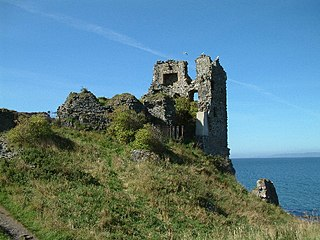 Dunure Castle castle in South Ayrshire, Scotland, UK