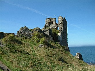 Dunure Castle - Dunure Castle from the east