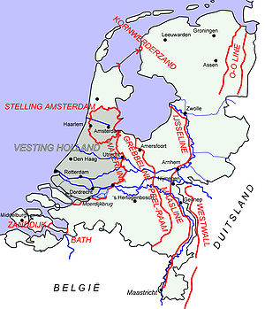 Battle of the Netherlands - Major Dutch defence lines