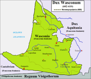 Duchy of Gascony - Duchy of Waskonia (602-610)