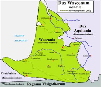 Duchy of Gascony - Duchy of Waskonia (602-610)