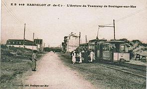 Le Tramway De Boulogne à Son Terminus De Hardelot, Avant 1914.
