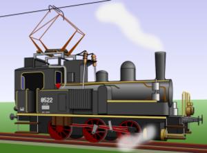 Electric-steam locomotive - SBB-CFF-FFS E 3/3 loco in electric-steam form