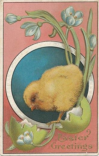 Easter postcard - Image: Easter Postcard circa 1910